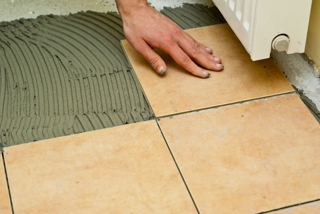 How to tile a concrete floor672